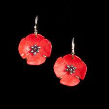 poppy earrings poppy earrings wire drop michaelmichaud