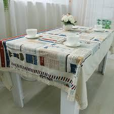 nappe cuisine plastique coton nappes tea table tissu rectangle cuisine restaurant étanche