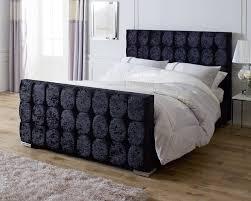Velvet Sleigh Bed Catherine Lansfield Gatsby Black Sleigh Bed Aspirestore Co Uk