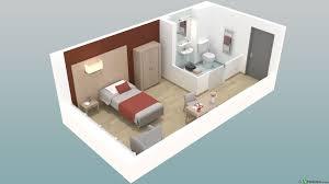 chambre en 3d résidence de programme immobilier neuf à beuvry