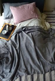 Summer Coverlet King Dove Grey Heavy Linen Bed Cover Coverlet Linen Summer