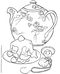 birthday coloring pages free printable kids birthday tea