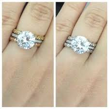 white gold engagement ring yellow gold wedding band found on weddingbee your inspiration today