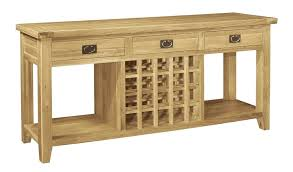 wine steward console table french farmhouse oak storage rack upton