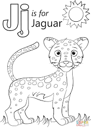letter j is for jaguar coloring page free printable coloring pages
