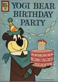 vintage yogi bear birthday card reminds brother bear joe