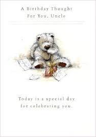 wellington bear uncle birthday card