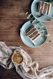 jet and indigo chocolate whiskey cake with salted caramel buttercream