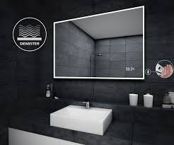 led illuminated bathroom mirror l49 sensor switch led clock