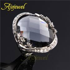big crystal rings images 010 fashion silver crystal rings for women men big design clear jpg