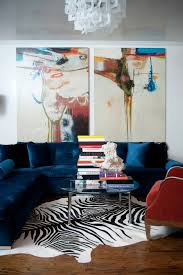 navy sectional sofa living room contemporary with abstract art
