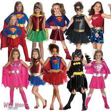 girls superhero fancy dress costume kids ebay