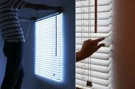 Lights For Windows Designs Windows Light On These Faux Blinds Make It Look Like There S