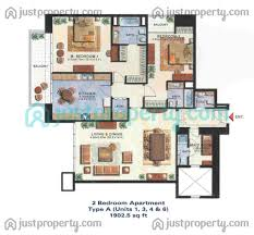 2 bedroom floorplans tamweel tower floor plans justproperty com