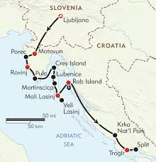 Map Of Croatia And Italy by Croatia Istria And The Dalmatian Coast Itinerary U0026 Map