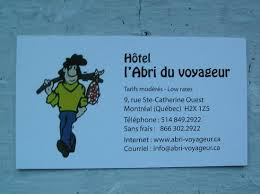 Hotel Business Card Business Card Picture Of Hotel L U0027abri Du Voyageur Montreal