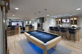 Billiards Room Decor Basement Pool Room Ideas Basement Contemporary With Brushed