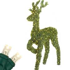 Outdoor Led Lighted Christmas Decorations by Standing Reindeer Outdoor Led Lighted Christmas Deer Green Topiary