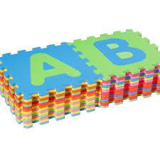 puzzle tappeto pavimento in gomma 26 pezzi alfabetico 32x32 cm