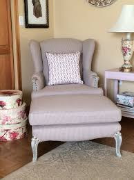matching chair and ottoman classic traditional wing chair with matching ottoman