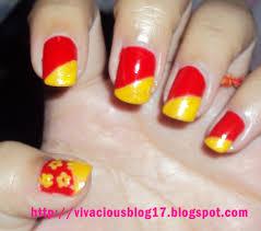 vivacious blog yellow u0026 red nail art