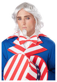 Bowling Halloween Costumes Uncle Sam Wig Chin Patch