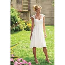 simple knee length wedding dresses simple a line knee length wedding dresses garden capped