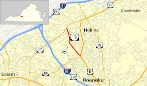 Roanoke Virginia Map virginia state route 118 wikipedia