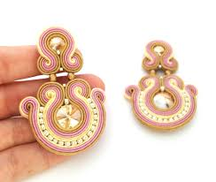earrings clip on soutache earrings statement earrings sabo design
