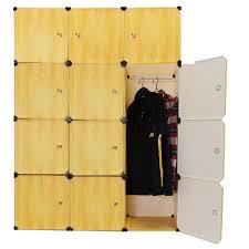 kingso resin wood grain 12 cubes diy wardrobe closet storage