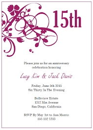 personalized happy wedding anniversary invitation cards and