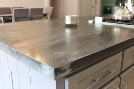 home design white kitchen island zinc countertop nickel plate bowl