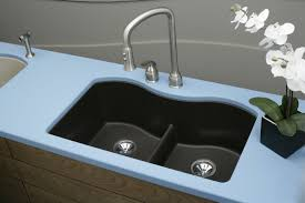 Sink Designs Kitchen Sinks Close Up Look On Double Bowl Half Black Composite Kitchen