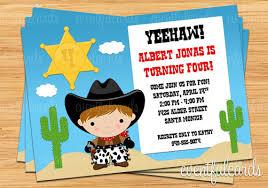 marvelous western birthday invitation templates free amid