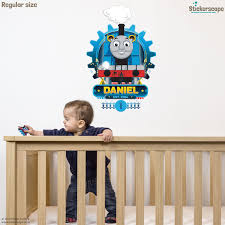 personalised thomas cog wall sticker stickerscape uk