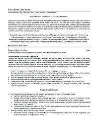 sample entry level project manager resume resume samples for job