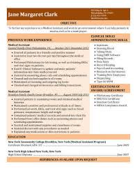 resume examples medical assistant with medical assistant skills