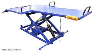 Motorcycle Lift Table by Ideal 2200ieh Utv Atv Trike Motorcycle Lift Table Youtube