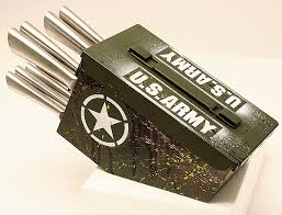 cool knife block delta echo products 10 pc ammo box knife block cutlery set