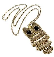 owl vintage necklace images Owl necklace clipart jpg