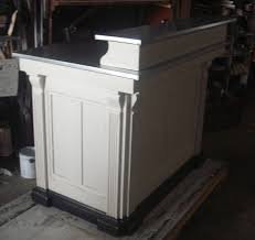 Retail Reception Desk Distressed Antique White Kneehole Reception Desk Perfect For Small
