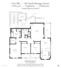 House Plans With Elevators Evanston Court Pasadena