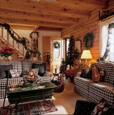 family room decorated for christmas love the checks love this