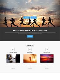 sprint running website template sports u0026 fitness website