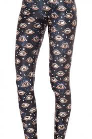 eye pattern tights black background eye print leggings with mid rise beautifulhalo com