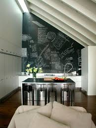 cuisine mur noir cuisine moderne pays idees de decoration