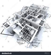 three houses on top architects blueprints stock illustration three houses on top of architect s blueprints