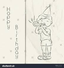 sketch of birthday card awesome sketch monochrome birthday card