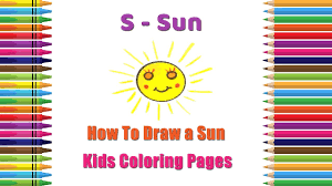 how to draw sun coloring pages alphabets coloring pages baby