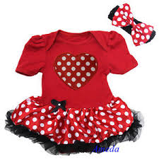 minnie mouse s day s day baby minnie mouse polka dots heart bodysuit tutu